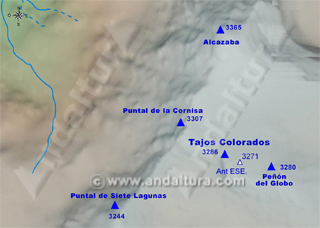 Mapa Tajos Colorados