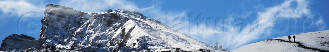 Ruta de Senderismo invernal al Veleta, Parque Nacional y Natural e Sierra Nevada