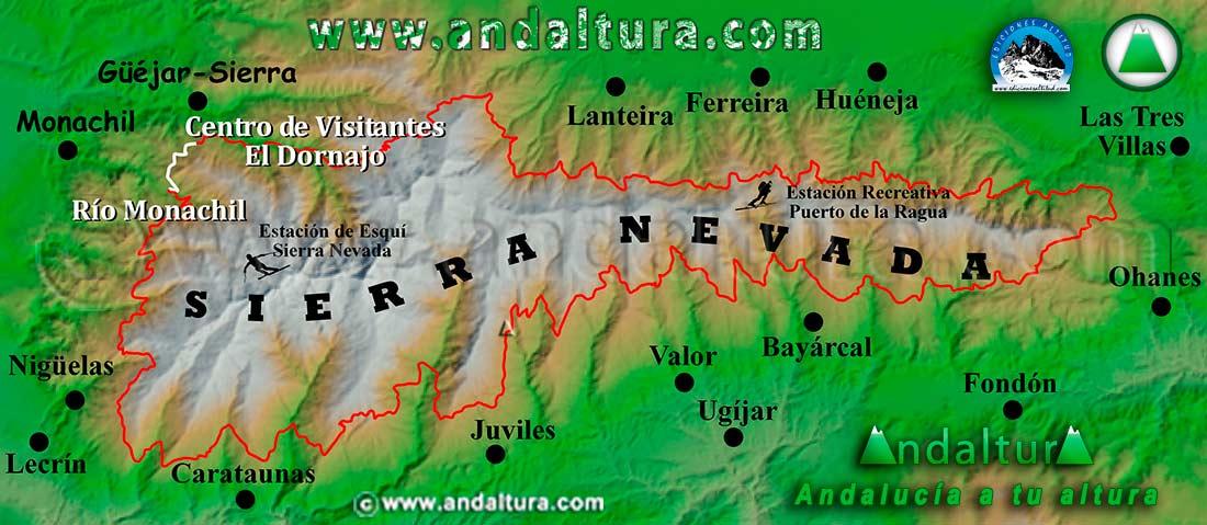 Mapa de Situación de los Tramos del Gran Recorrido GR240, Sendero Sulayr