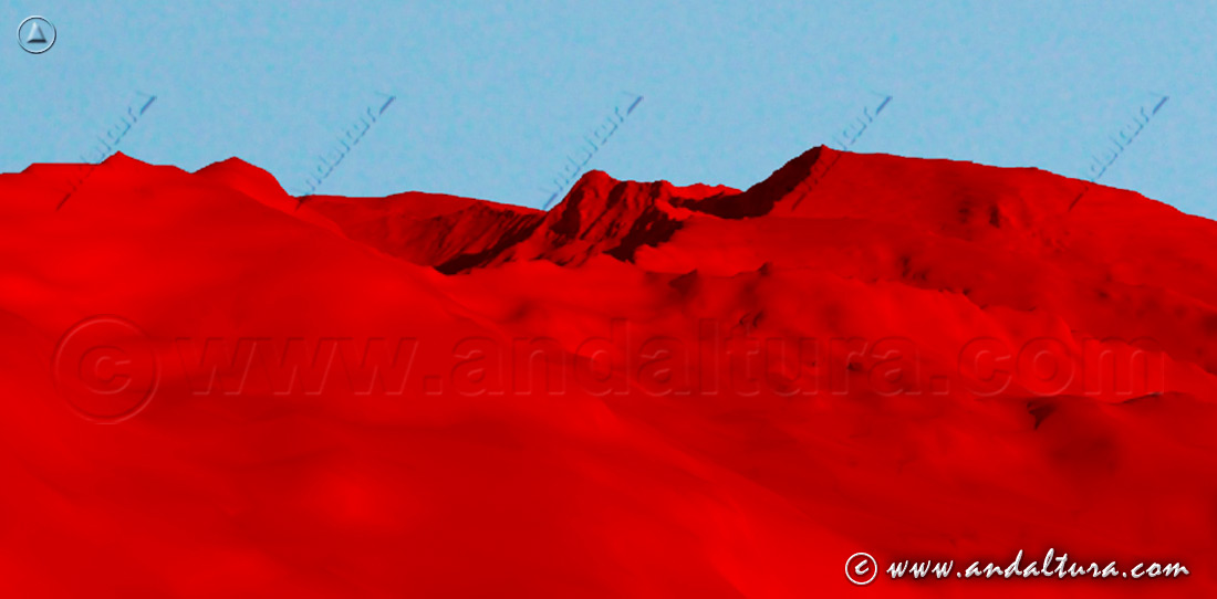 No nos copies, Copyright Andaltura. Imagen Virtual del Mulhacén y la Alcazaba