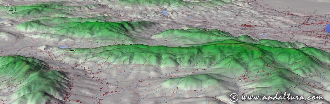 Imagen Virtual de la Sierra de Ojén - Parque Natural Sierra de los Alcornocales -