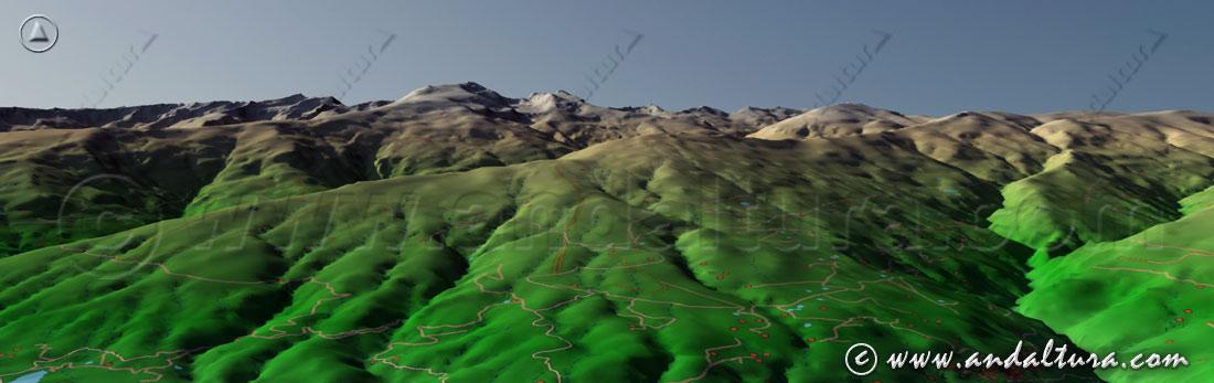 Imagen virtual Sierra Nevada - vertiente de la Alpujarra -
