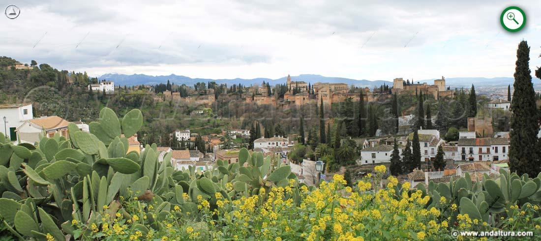 Teclea sobre la imagen de la Alhambra para ampliarla