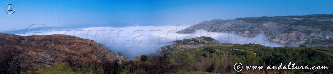 Clima de Andalucía - Nubes bajas en el Valle de Lecrín -