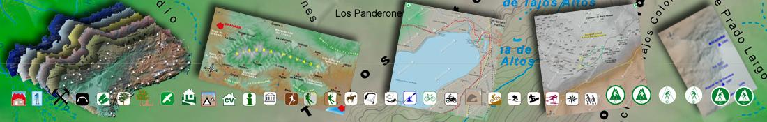 Ejemplo Mapas Cartográficos de las Rutas de Senderismo por Andalucía de Andaltura