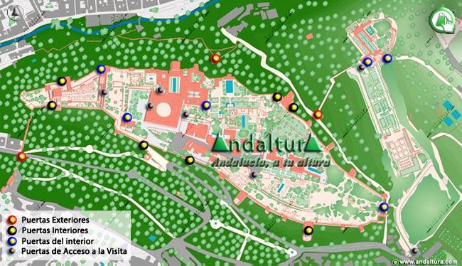 Teclea en la imagen y accede al Mapa interactivo de las Puertas de la Alhambra y el Generalife