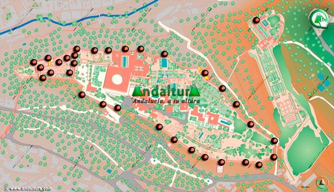 Teclea en la imagen y accede al Mapa interactivo de las Torres de la Alhambra y el Generalife