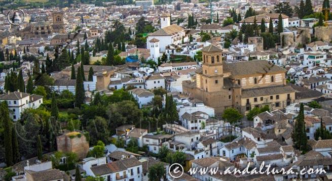 Teclea en la imagen y accede al Callejero del Albaycín. El Albaycín desde el Mirador de San Miguel Alto