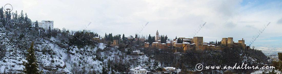 Teclea en la imagen y accede a las Panorámicas de la Alhambra desde los Miradores de la Alhambra y el Albaycín
