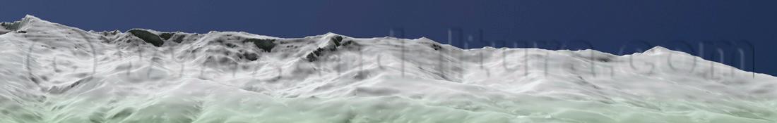 Imagen virtual suroccidental de los Tresmiles de Sierra Nevada