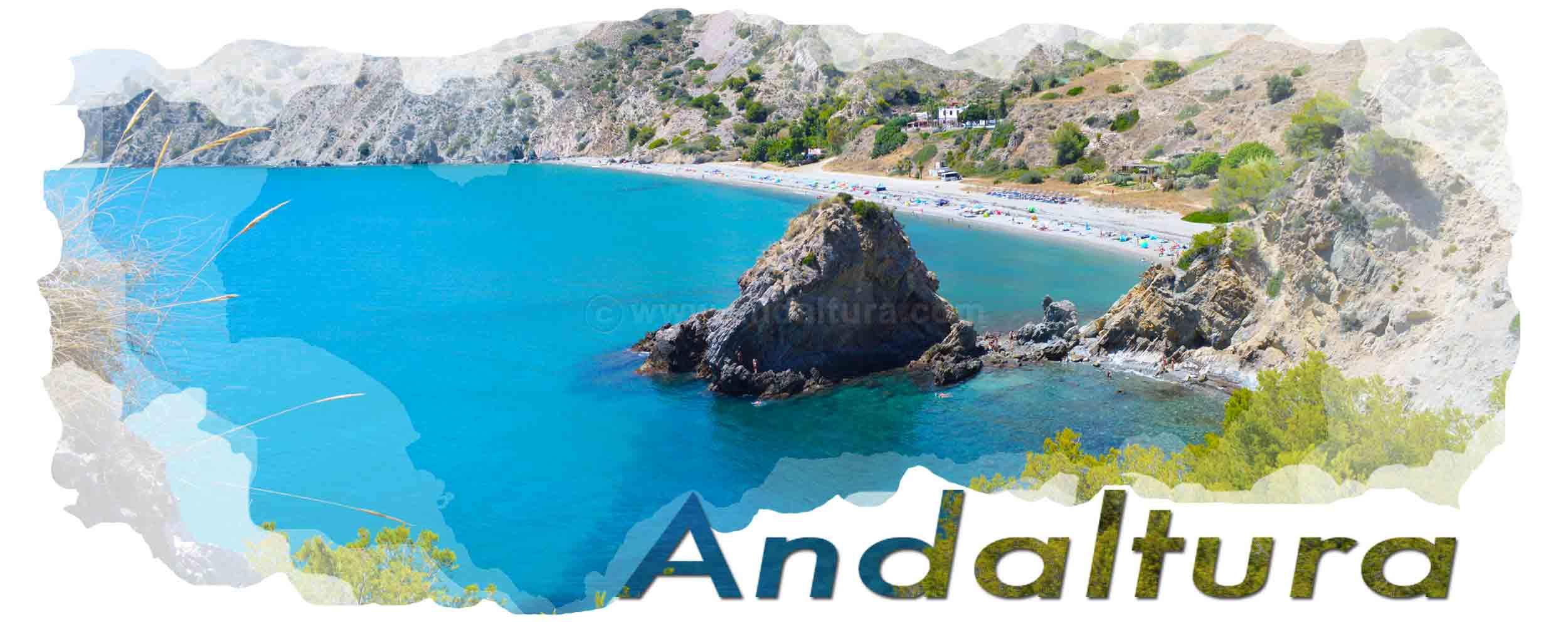 Cabecera Imágenes Interactivas de Andaltura. Playa del Cañuelo
