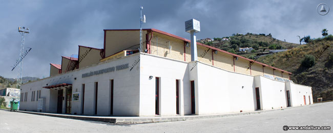 Pabellón Poliderportivo del Patronato Municipal de Deportes dependiente del Ayuntamiento de Torrox que plagia los Contenidos de Andaltura sin nuestro permiso