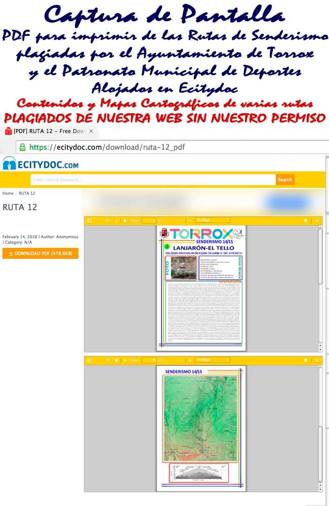 PDF de los Contenidos y Mapas plagiados de Ecitydoc de Lanjarón a las Casas de Tello