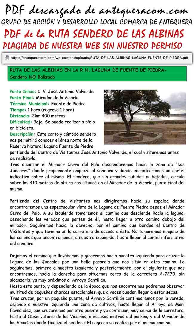 PDF copia de la Ruta Sendero Las Albinas de Andaltura