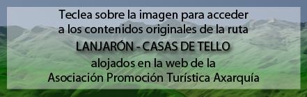 Ruta Plagiada de la Ruta de Lanjarón a las Casas de Tello de Andaltura en la web de la Asociación Promoción Turística Axarquía