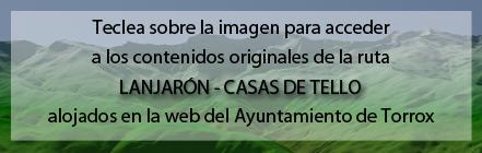 Ruta Plagiada de la Ruta de Lanjarón a las Casas de Tello de Andaltura alojada en la web del Ayuntamiento de Torrox