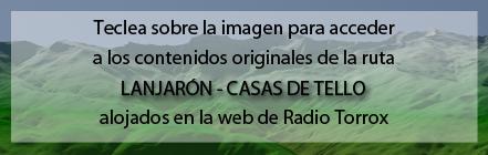 Ruta Plagiada de la Ruta de Lanjarón a las Casas de Tello de Andaltura en la web de Radio Torrox