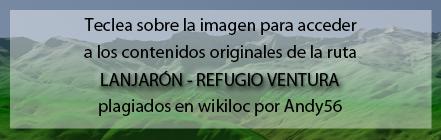 Ruta plagiada de Lanjarón al Refugio Ventura de Andaltura por wikiloc