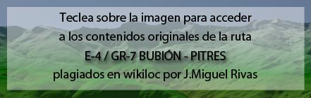 Ruta del GR7 de Bubión a Pitres plagiada de Andaltura en wikiloc