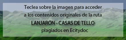Ruta Plagiada de la Ruta de Lanjarón a las Casas de Tello de Andaltura en la web de Ecitydoc