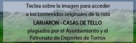 Ruta Plagiada de la Ruta de Lanjarón a las Casas de Tello de Andaltura en la web del Ayuntamiento de Torrox
