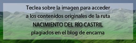 Ruta Plagiada del Nacimiento del río Castril de Andaltura en blog de encarna