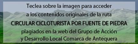 Ruta Circular Cicloturista por Fuente de Piedra plagiada de Andaltura