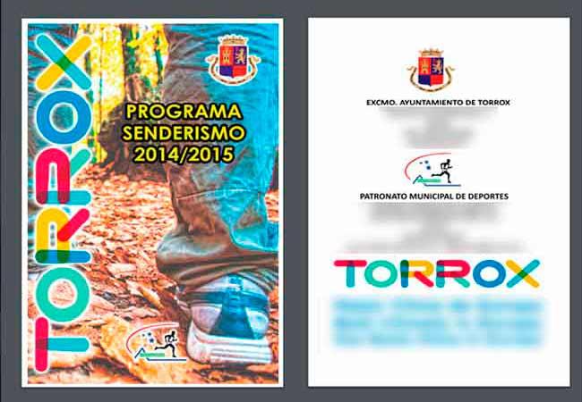 PDF para descargar las rutas plagiadas de Andaltura por el Ayuntamiento de Torros y el Patronato de Deportes de Torrox de Trevélez a 7 Lagunas