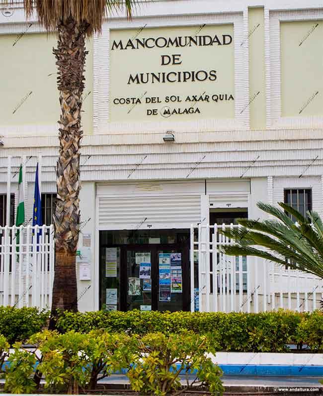 Entrada a la instalación de la Asociación Promoción Turística Axarquía donde copian y plagian contenidos de Andaltura sin nuestro permiso