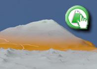 Imagen Virtual del Camorro Alto de la Ruta plagiada de la Ruta Verde por el Torcal de Antequera en entremontanas
