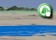 Imagen virtual Laguna de Fuente de Piedra del plagio de la Ruta Circular Cicloturista