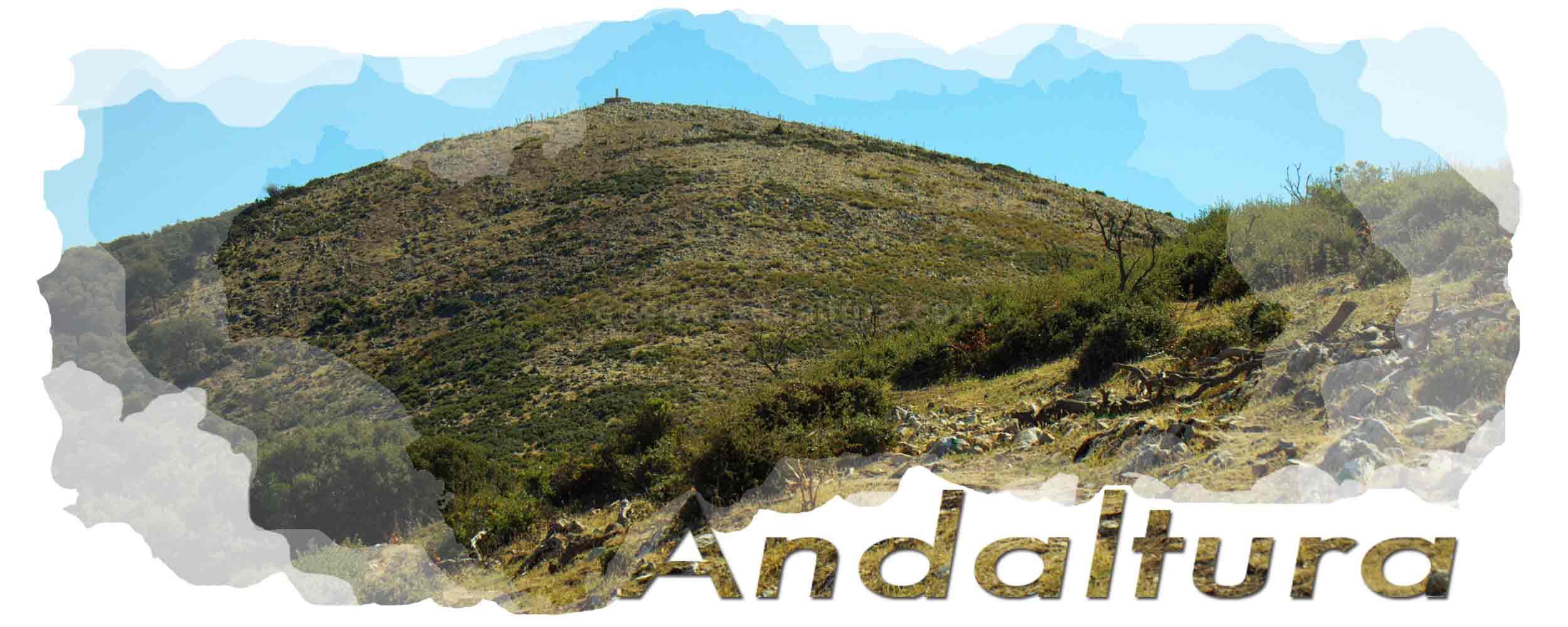 Cabecera descargas de Andaltura. Terril, 1128 metros, Sierra del Tablón