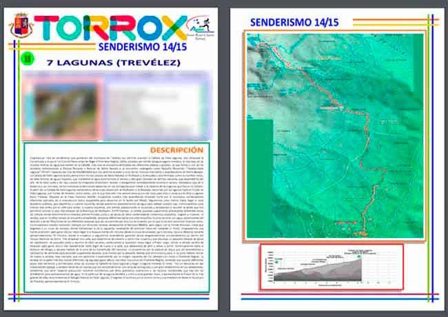 PDF de los Contenidos y Mapas plagiados de Andaltura por el Ayuntamiento y el Patronato de Deportes de Torrox de Trevélez a 7 Lagunas