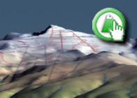 Imagen virtual del Panderón del Veleta plagio de la Ruta del GR7 de Bubión a Pitres