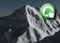 Imagen virtual norte de la Alcazaba plagio de la Ruta de GR7 Lanjarón - Cáñar