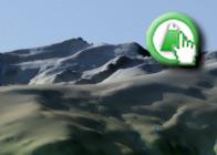 Imagen virtual de la Alcazaba y el Puntal de Vacares de la Ruta del GR7 de Bubión a Busquístar