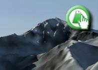 Imagen virtual del Mulhacén y Juego de Bolos de la Ruta plagiada del GR142 de Lanjarón a Órgiva 1