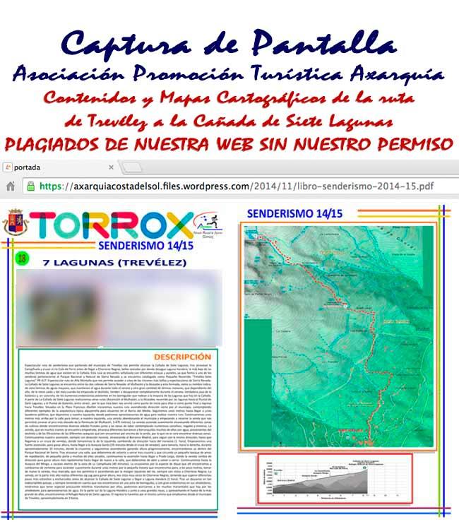 PDF de los Contenidos y Mapas plagiados de Andaltura por la Asociación Promocion Turística Axarquía