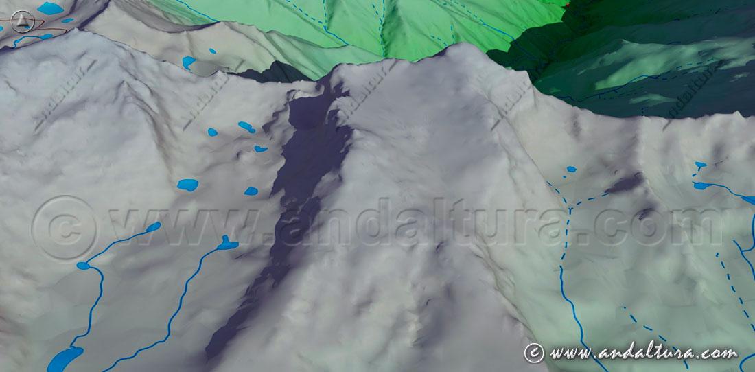 Imagen virtual de la vertiente sur de la Alcazaba