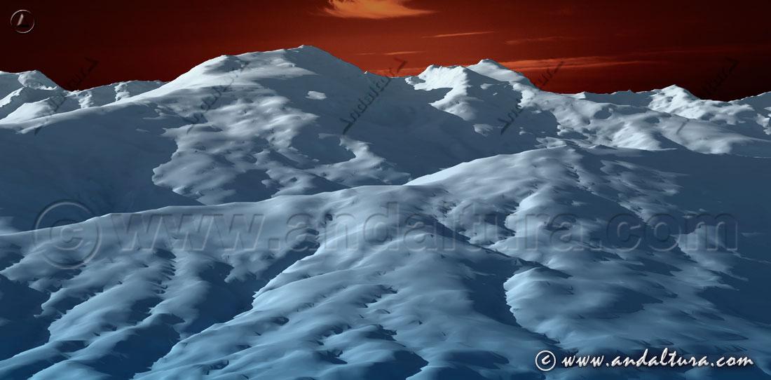 Imagen virtual vertiente sur de Sierra Nevada