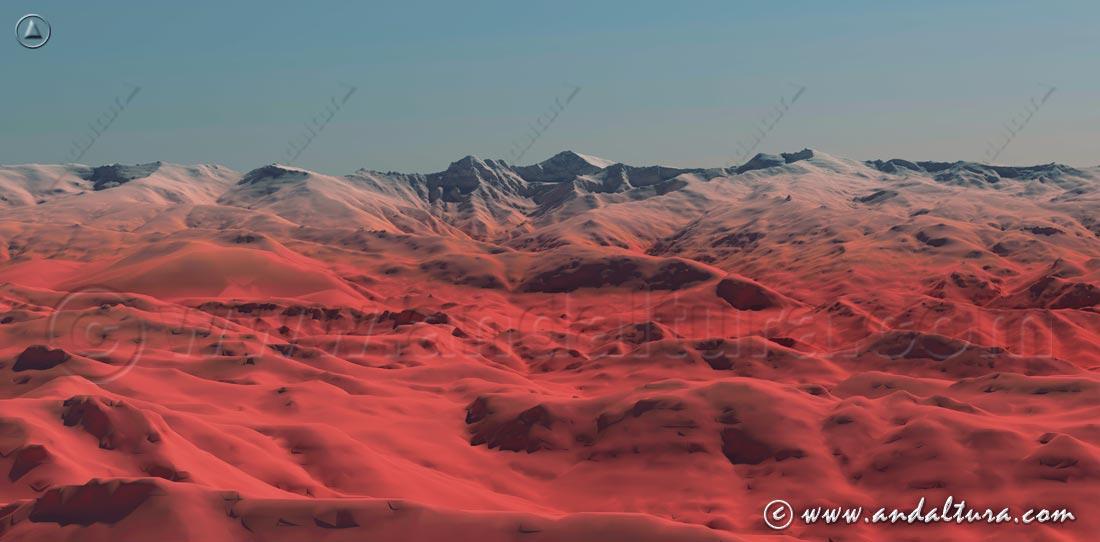 Imagen Virtual de las nortes de los Tresmiles de Sierra Nevada, la Alta Montaña de Andalucía