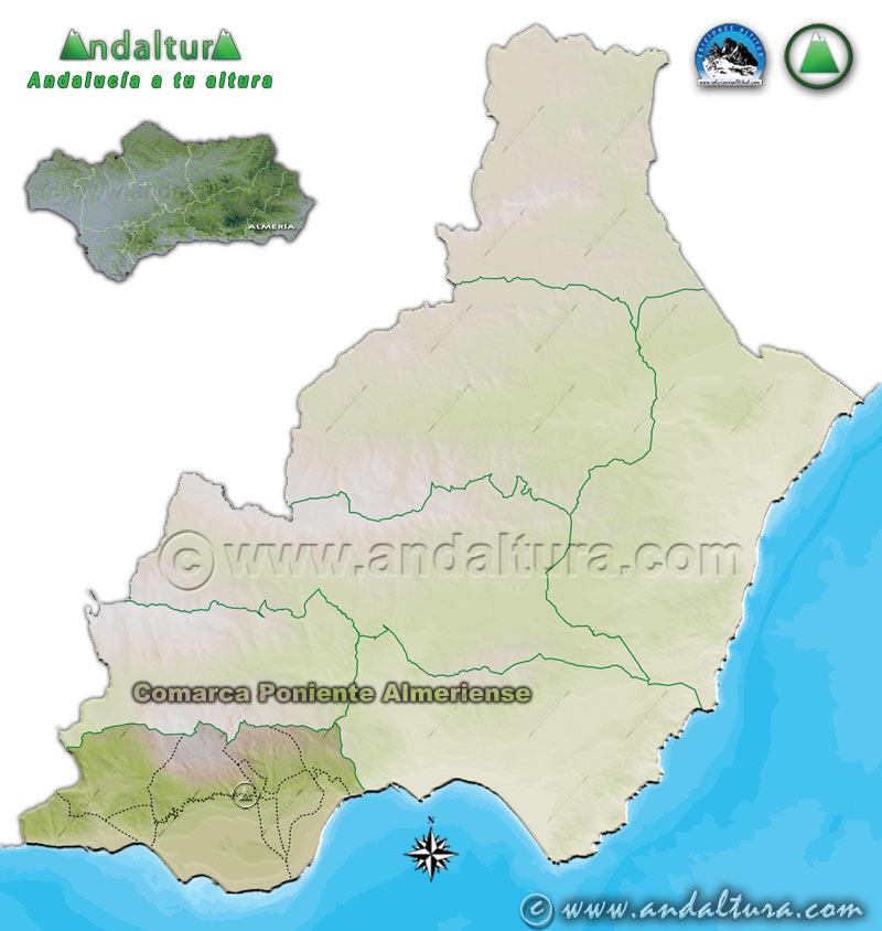 Comarca Poniente Almeriense: Mapa de Situación en la Provincia de Almería