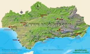 Espacios Naturales Protegidos de Andalucía - Mapa y Acceso a los Monumentos Naturales -