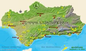 Espacios Naturales Protegidos de Andalucía - Mapa y Acceso a los Parajes Naturales -