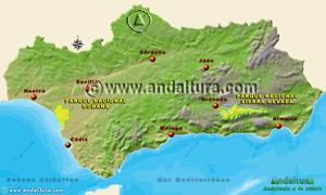 Espacios Naturales Protegidos de Andalucía - Mapa y Acceso a las Reservas Naturales -