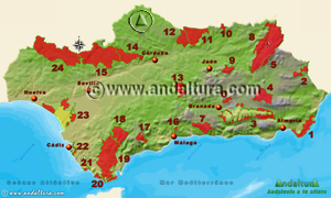 Espacios Naturales Protegidos de Andalucía - Mapa y Acceso a los Parques Naturales -
