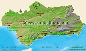 Espacios Naturales Protegidos de Andalucía - Mapa y Acceso a las Reservas Naturales Concertadas-