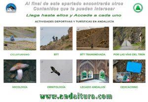 Contenidos a ampliar en Actividades Turísticas y Deportivas de Andalucía
