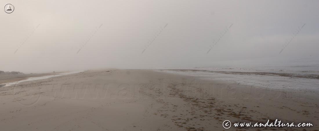 Clima en Andalucía - Niebla en la Playa de los Lances