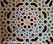 La Alhambra y el Generalife: alicatado en el Mexuar